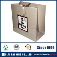 custom silver laminated paper hand bag factory