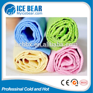 reliable quality Super absorbent PVA sports cooling towel / PVA cleaning chamois