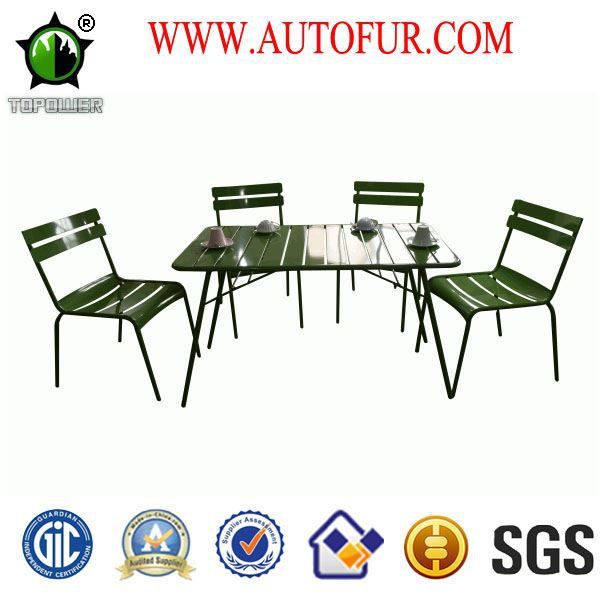 Colorful Low price stackable e-coating finished Metal Outdoor Garden Chairs