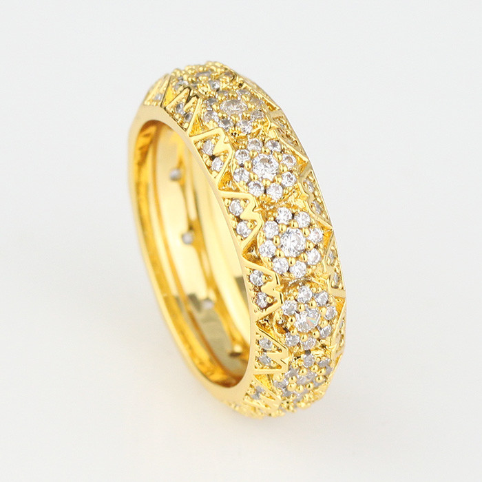 Latest CZ Diamond Dubai Gold Ring Designs for Men, Simple Gold ...