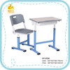 Manually operated adjustable wooden height ergonomic school desks
