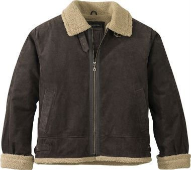 J. Madison Sherpa Fleece-lined Leather Bomber Jacket - Buy Mens ...