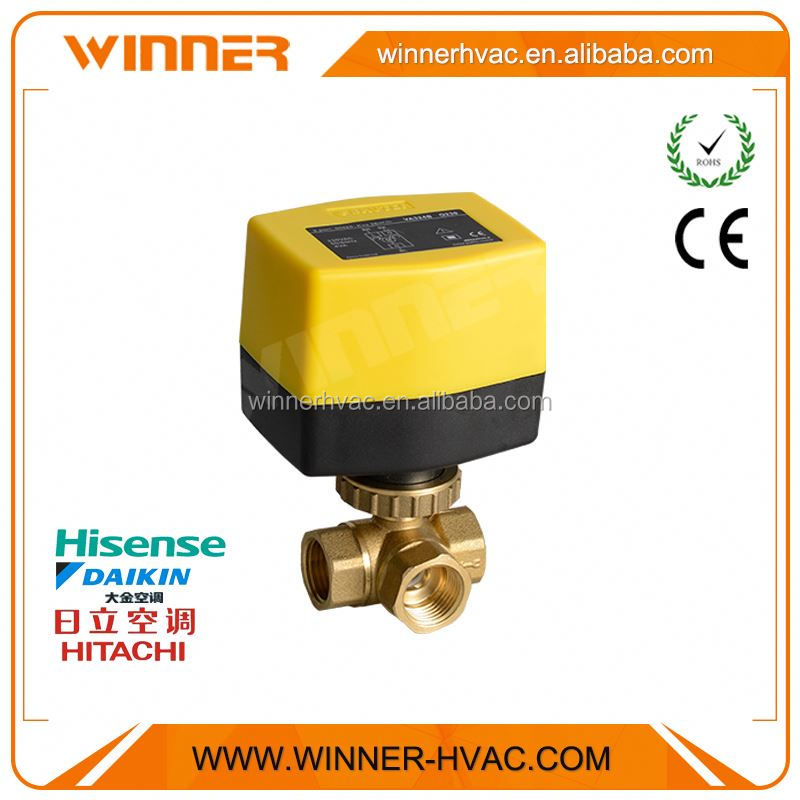 Ex-factory price mini compact design three way dn20 motorized ball valve
