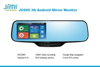 EU 5 inch screen JC900 mini gps car tracker connected real-time tracking Dvr for car and motorcycle