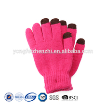 Formfitting Protective Hand Winter Plain Colors Knitted Touch Screen Cycling Gloves