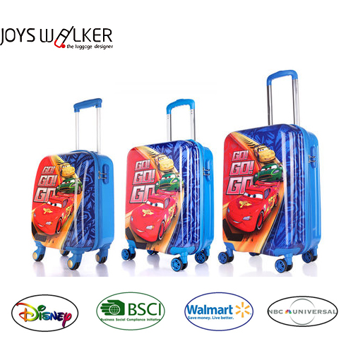 "traveling bag cars/spiderman/frozen printed kids/children trolley case/ square shape luggage for kids-16""/18""/20""/24"""