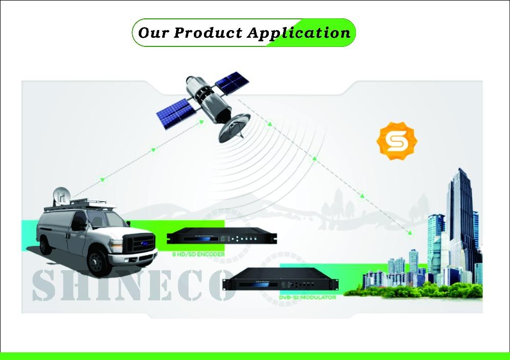 Digital Cctv System Asi To Rf 70mhz Dvb-s2 If Modulator