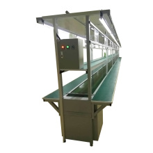 Shenzhen electronic products assembly line flat belt conveyor