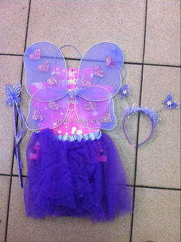 Good promotion girls fairy dresses with wings butterfly wings costume wings QFW-1027 & Good Promotion Girls Fairy Dresses With Wings Butterfly Wings ...