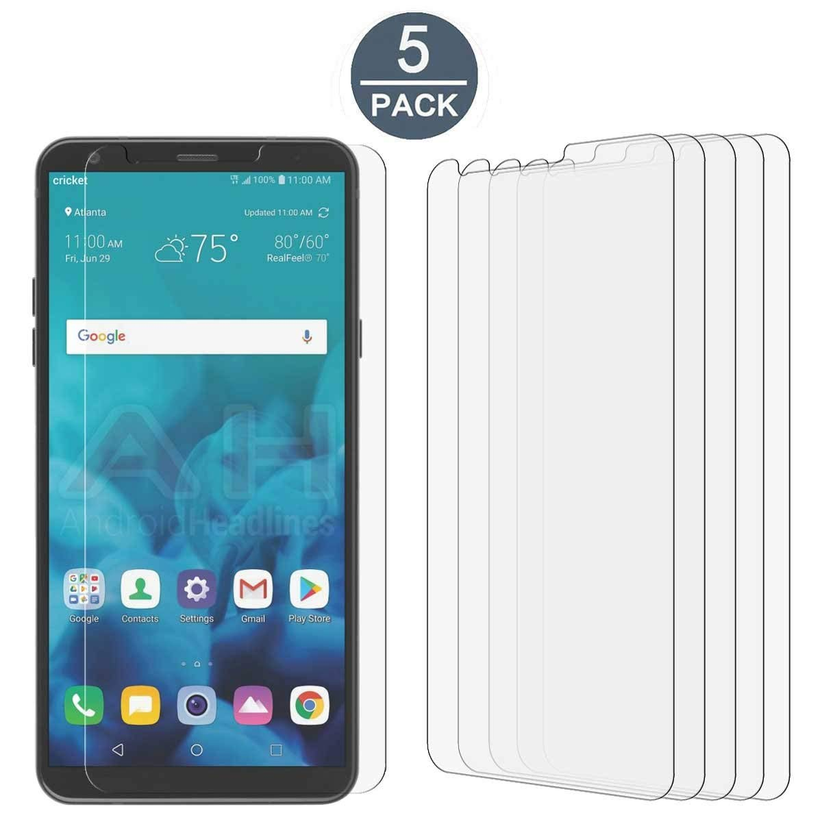 [5 Pack]Tonvizern For LG Stylo 4 High Defintion Ultra Clear Screen Protector Film(HD Clear)