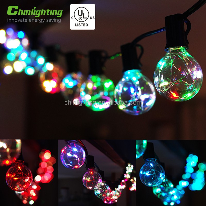 Party high quality coloful led string light G40 25ct
