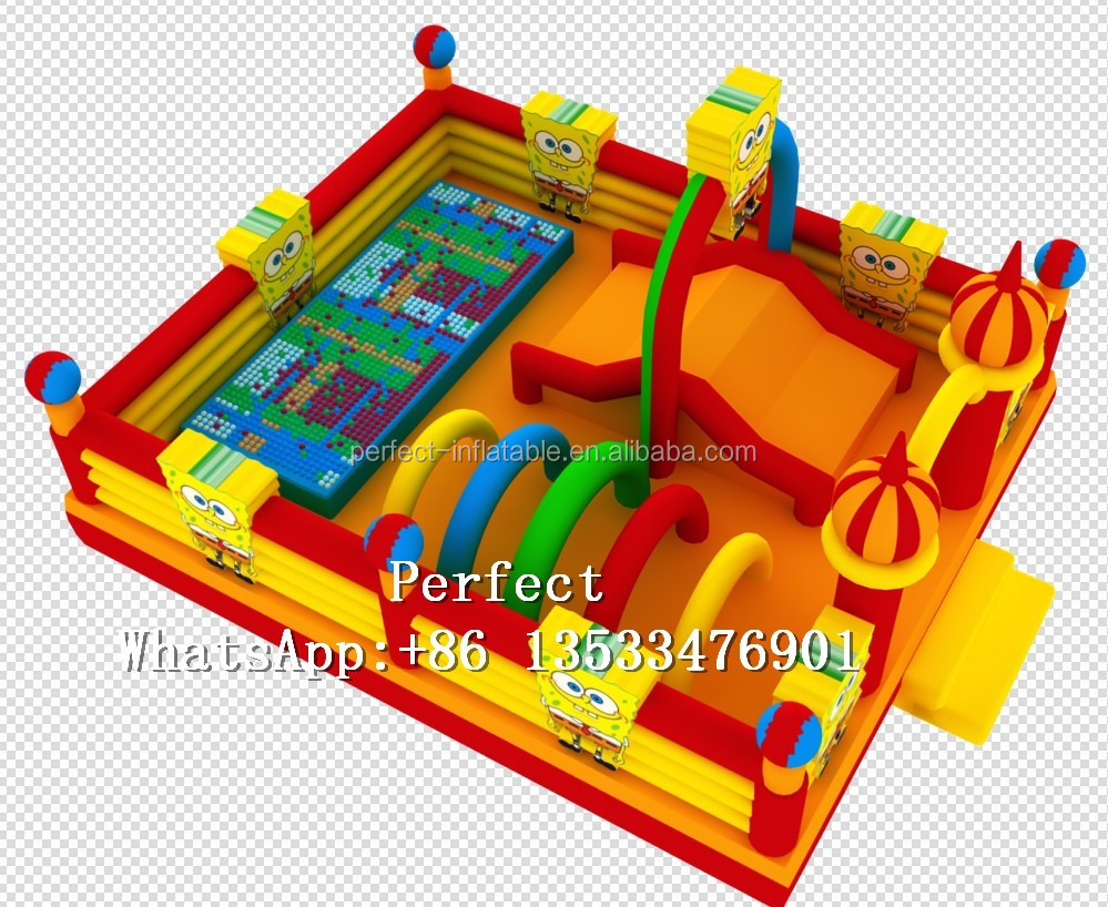inflatable bouncing castle inflatable jumping bed with slide giant inflatable toys for kids