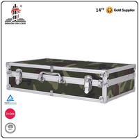 Camouflage Color Portable Waterproof Tool Box Aluminum Frame Carry Case