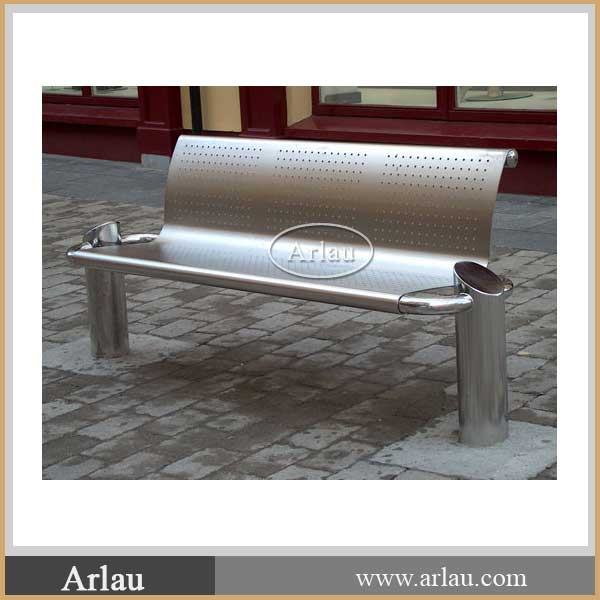 Stainless Steel Public Bench Seat For Railway Station Metro