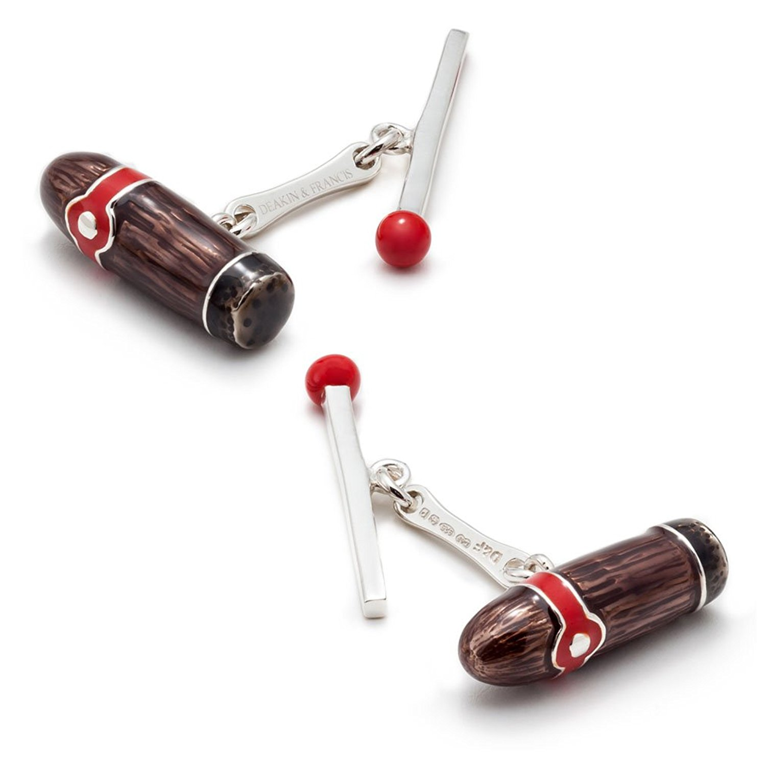 Deakin and Francis Men's Cigar and Match Cufflinks - Brown