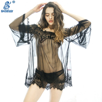 Romantic latest women new sexy nighty design fancy sexy nude nightwear