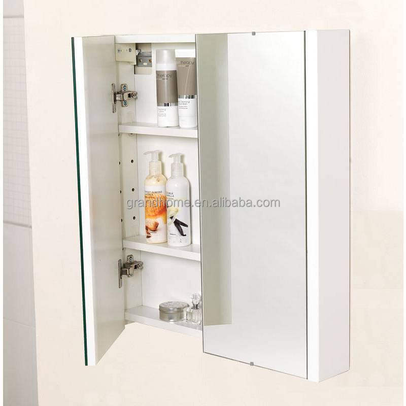 Venda quente Chinês MDF Banheiro Armário De Remédios de Madeira com EspelhoP # Armario De Banheiro Bosi