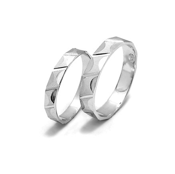 ee53fa27a1 JZ102 Couple Rings Diamond Cut Simple Design 925 Silver Men And Women Rings