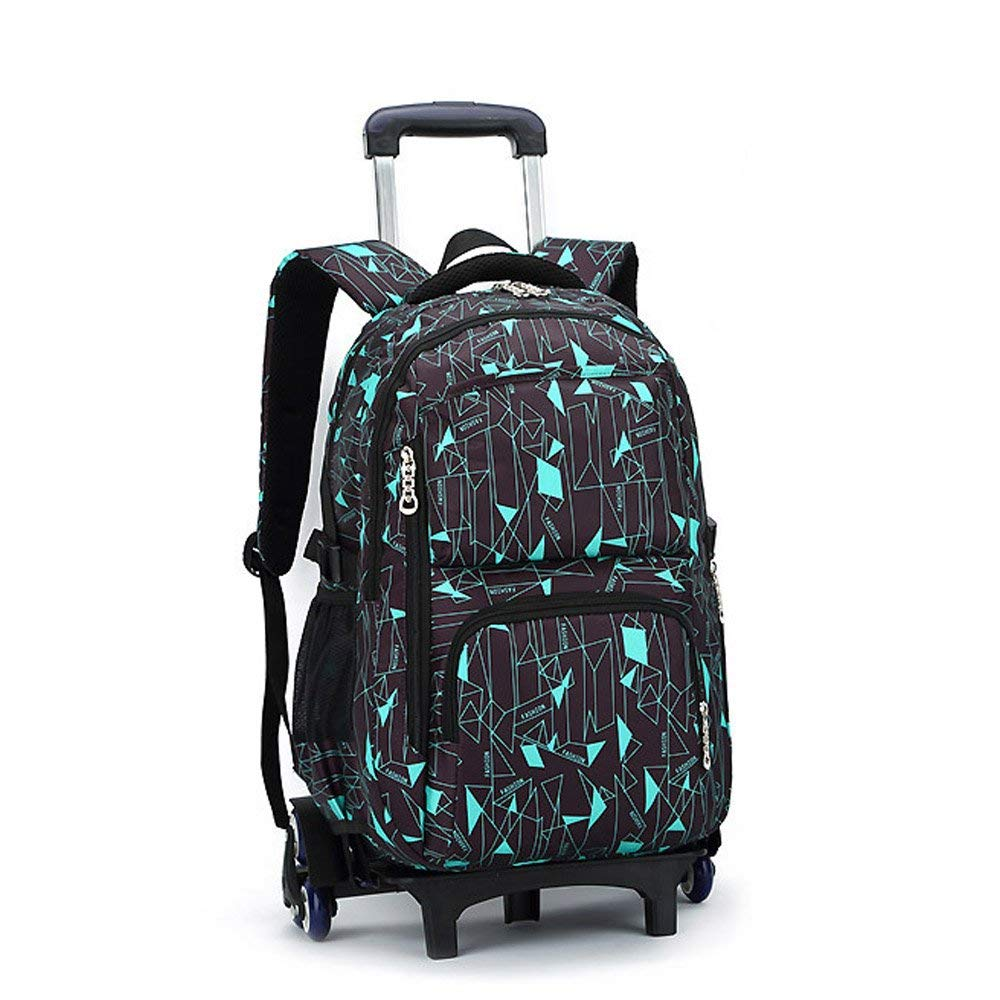 1177fcc6afcd Get Quotations · TiTa-Dong Rolling Laptop Backpack Luggage Wheeled Backpack  Trolley School Bags with Six Wheels for