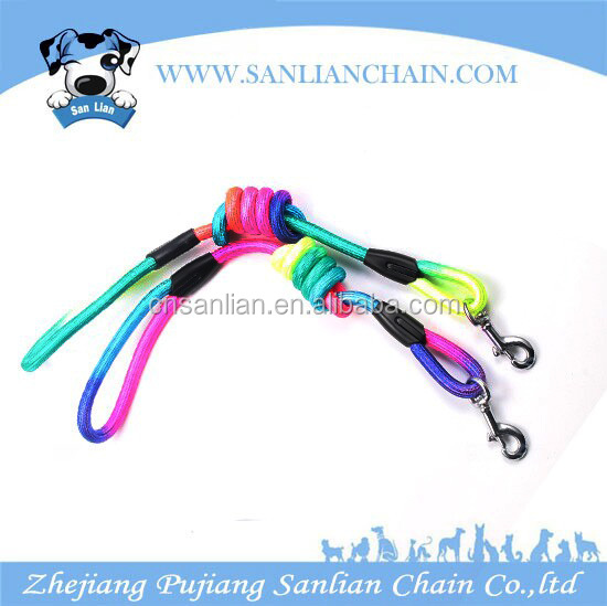 Best Selling Pet products dog accessories Pet Rainbow Color Nylon Rope Dog Rope Leash Wholesale