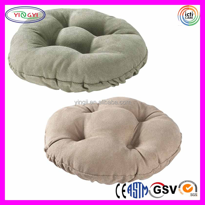 E912 Bar Stool Seat Cushion Cover 100% Polyester Bar Stool Cushion Covers Round
