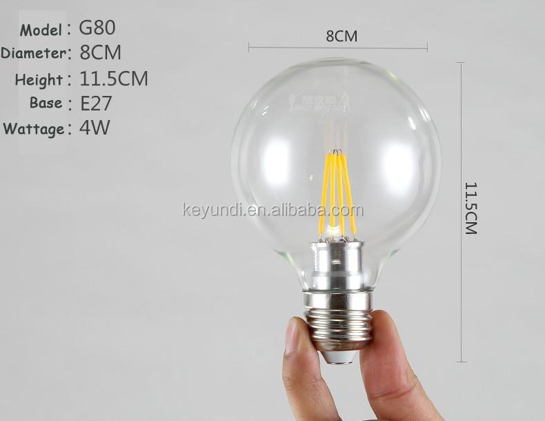 g80 size led filament bulb led light for crystal lamp modern led lamp for the house