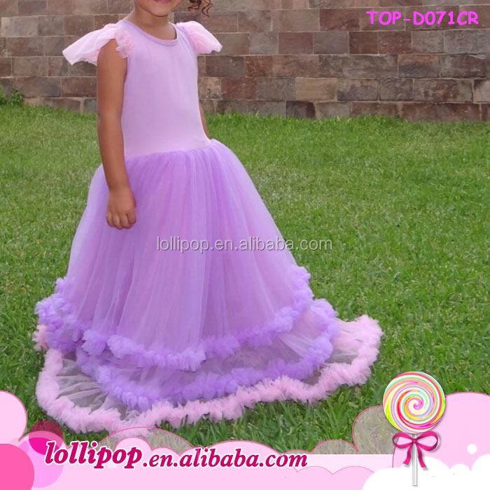 2015 Fashion Summer Baby Dress Chiffon Ruffle Short Sleeve Girls ...