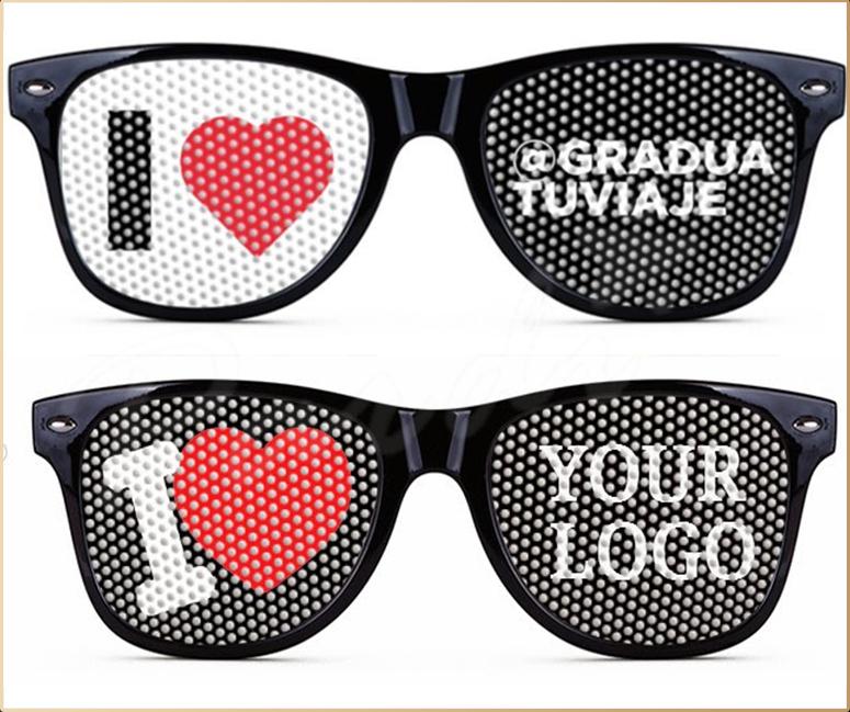 Nightclub Promo Pin Hole Sunglasses With Custom Logo Print