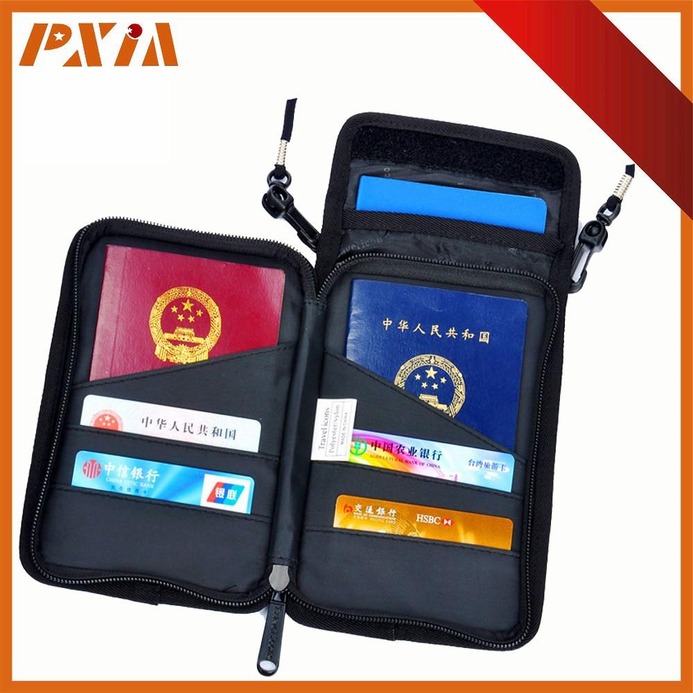 Rfid Neck Stash Pouch Travel Holder Passport Wallet Bag