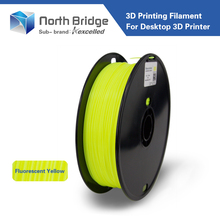 Kexcelled 1.75mm fluorescent yellow PLA 3D Printer Filament - 1kg Spool (2.2 lbs) - Dimensional Accuracy +/- 0.05mm