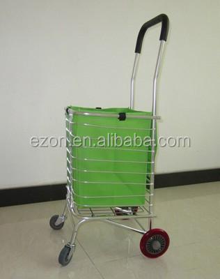 מפואר עגלת קניות מתקפלת מתכת/אלומיניום מתקפל עגלת קניות קידום מכירות RL-61