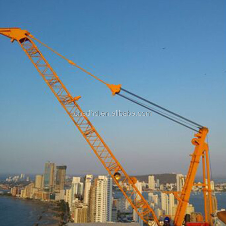 China brand new QTZ roof tower crane boom length specification