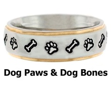 Muse Jewelry Stainless Steel Dog Paw Prints Design Unisex Rings