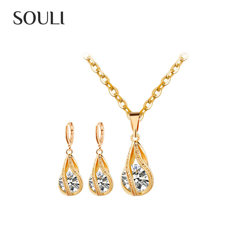 Artificial Jewellery Cheap Price Gold Plated Indian Bridal Jewelry Set