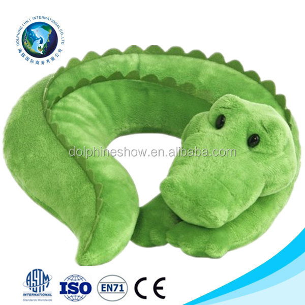 Animal Shaped Massage Pillow : Handmade Massage Baby U Shape Neck Pillow Cute Plush Crocodile Animal Travel Pillow - Buy Travel ...