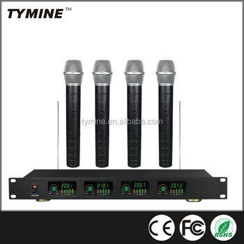 Tymine Hot Sale 4 channels Wireless Microphone Perfect for 4 people simultaneously speaking at once! TM-V04