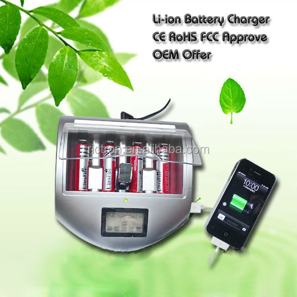 Alkaline Battery Charger with USB charging port