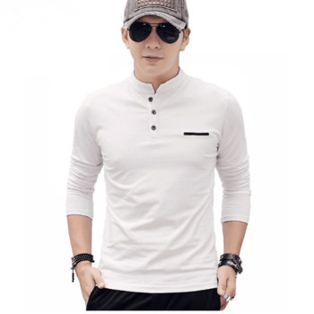 bulk cheap long sleeve cotton t shirt wholesale mens plain