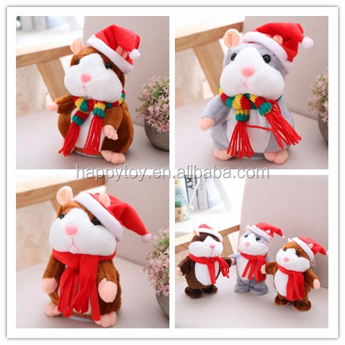 HI Birthday/Christmas Gift Talking Walking Electric Plush Hamster Toy with Sound Record