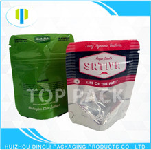 OEM food spices stand up zipper mini aluminum foil resealable bag