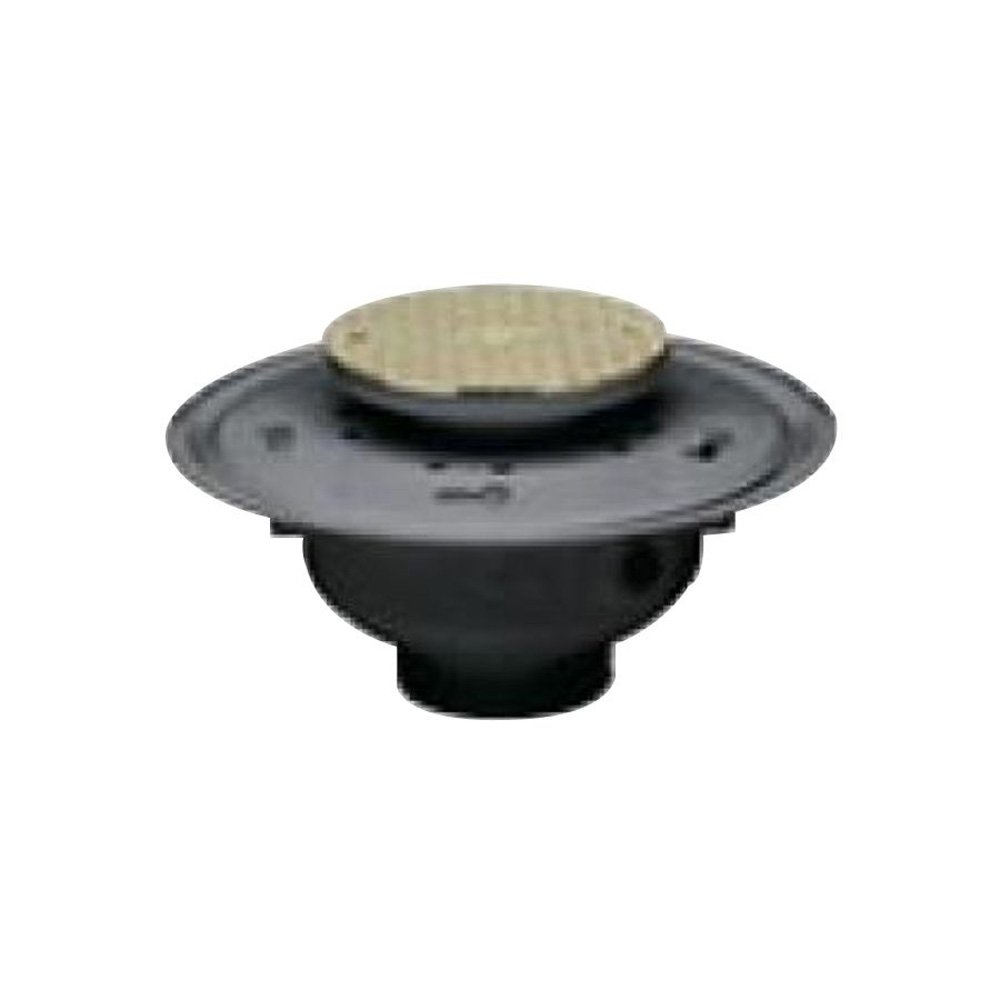 Oatey 74186 PVC Adjustable Commercial Cleanout with 6-Inch CHR Cover, 6-Inch