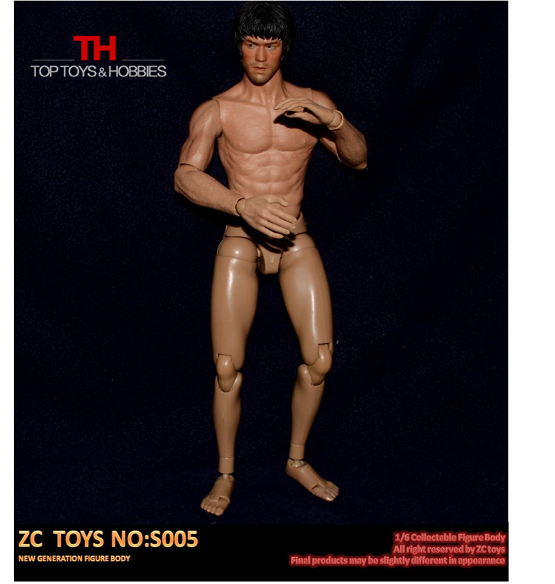 1//6 scale Custom male Narrow Shoulder body normall height fit hot toys TTM head