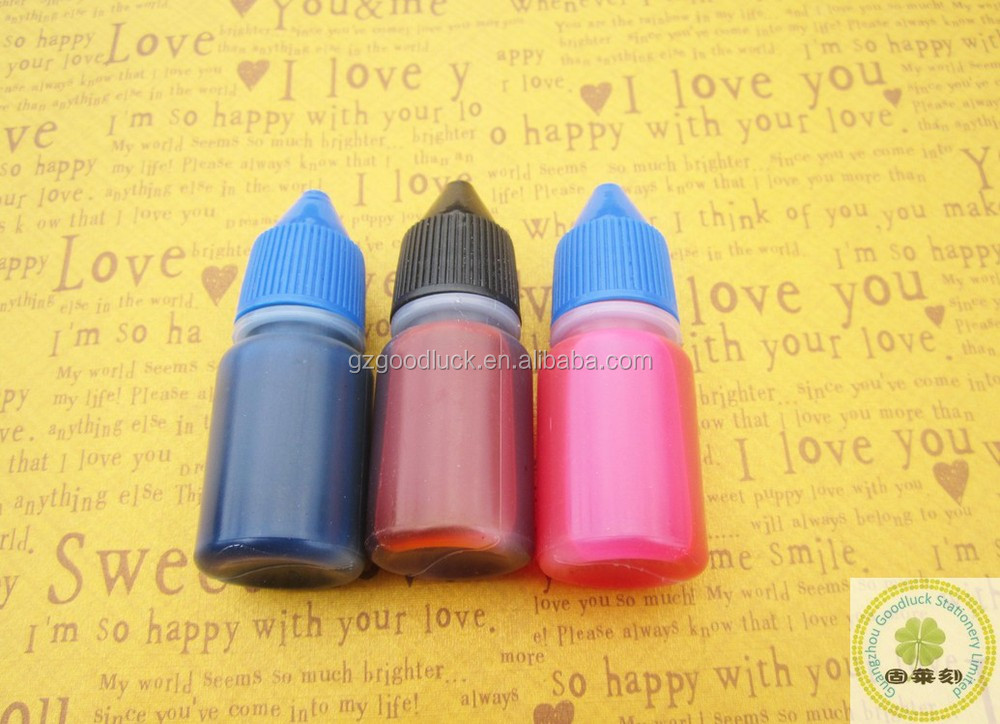 Waterproof quick drying self-inking stamp ink/Re-fill stamp pad ink for office use