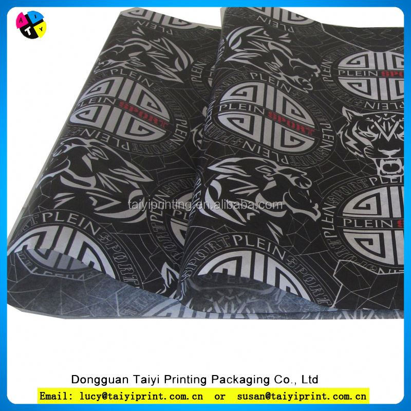 Large sheet environmental printed wrapping tissue paper