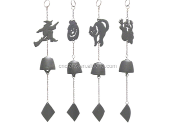 halloween cast iron wind chimes4pcsset metal wind chime