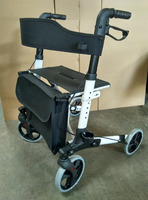 lightweight double folding rollator walker with PVC wheel is very durable