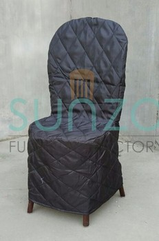 quality black color protective chair cover for wedding chiavari