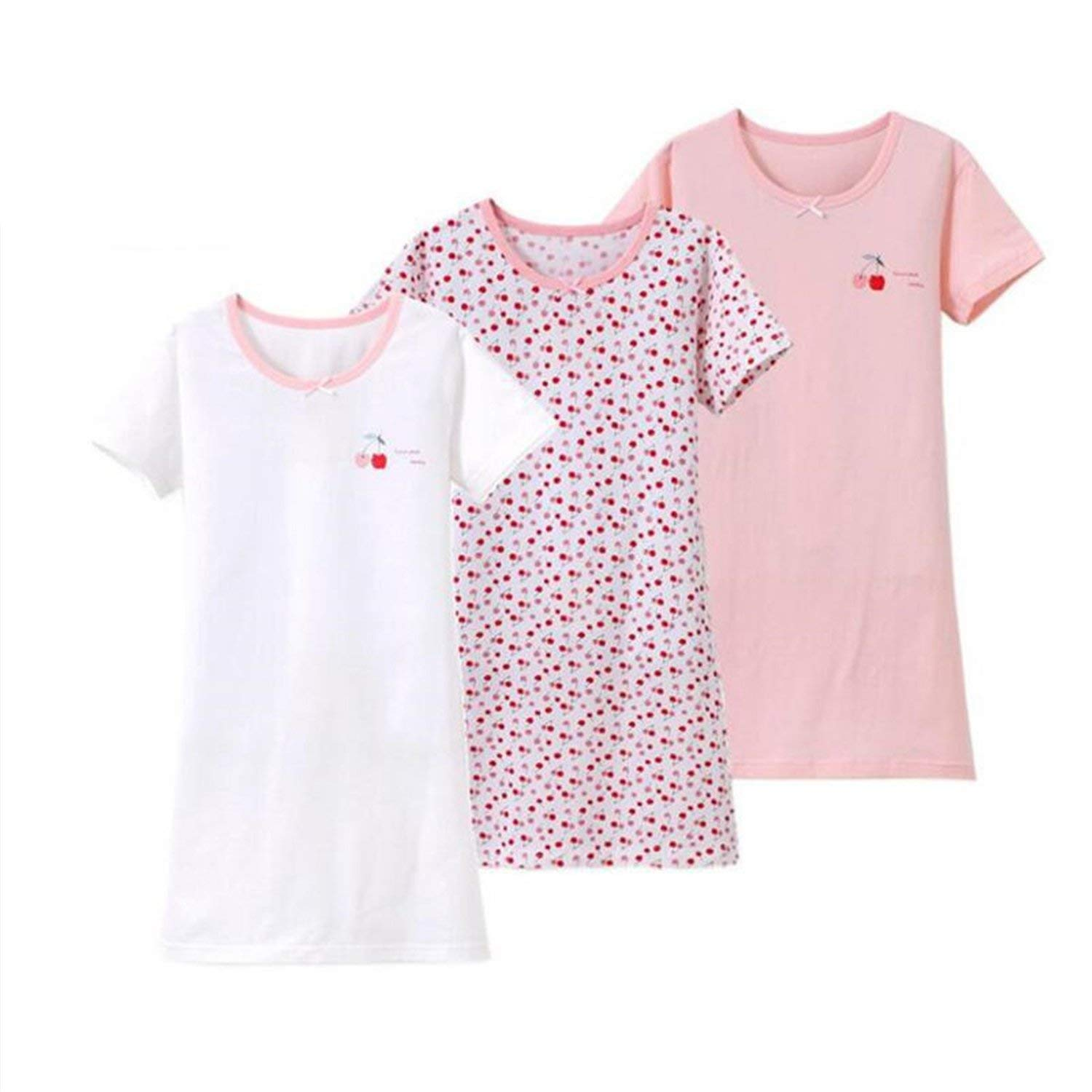 cdccb5869a Get Quotations · 3 Pcs Fashion Girl Cotton Sleeping Dress Girls Nightgown Sleepwear  Pyjamas Kids Sleepwear Children Pajamas Dressing