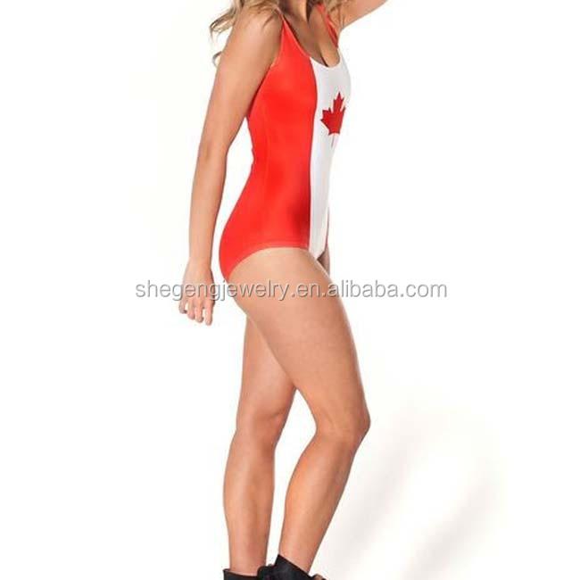 4cd7f4f57c2d0 Canada Flag Lady One Piece Swimwear Underwear - Buy Canada Flag Lady ...