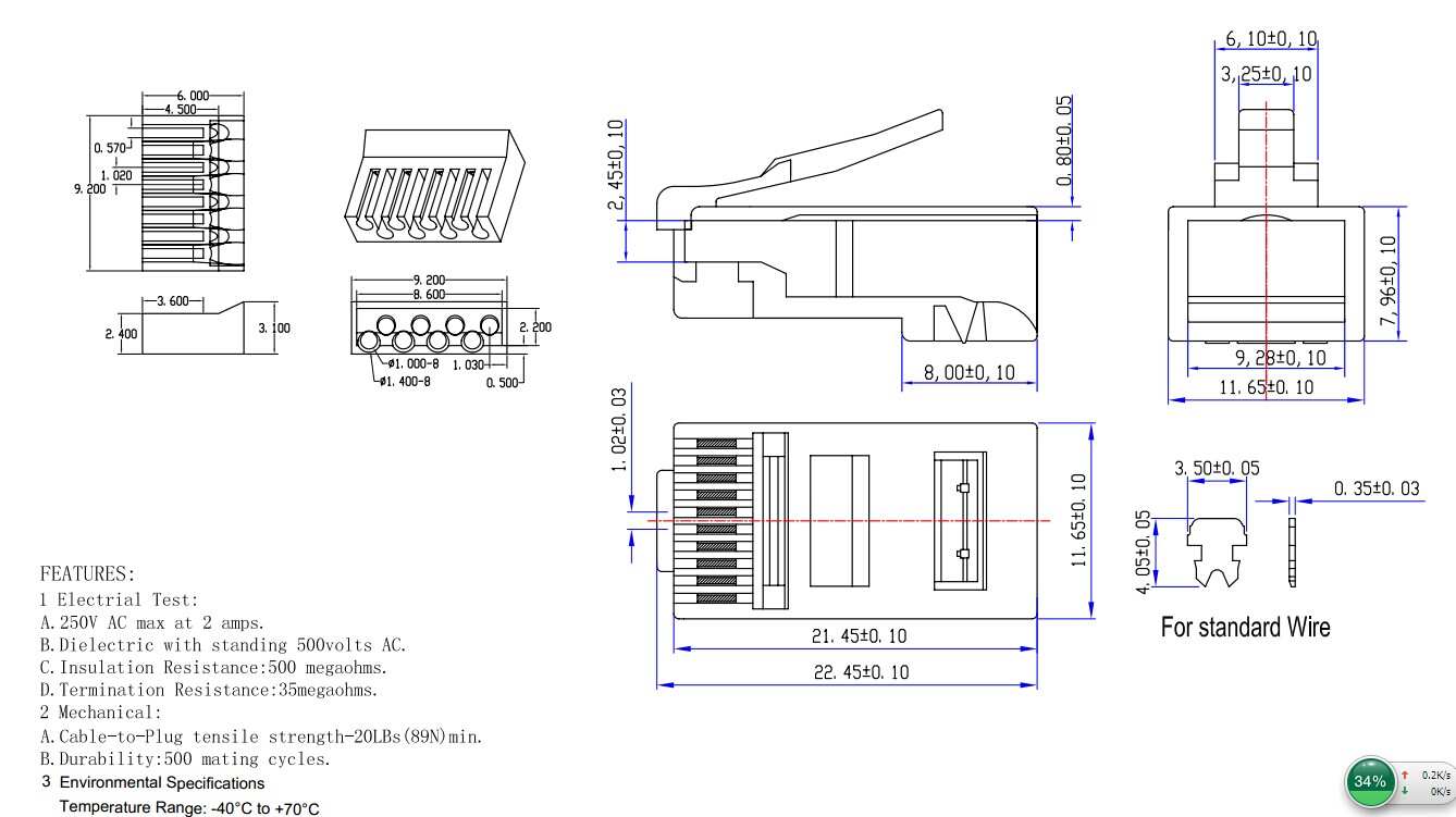 With Insert 8p8c Rj45 Cat6 Connector  View Cat6 Connector  Ntlink Product Details From Shenzhen
